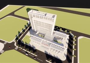 某市現代風格兒童醫院概念方案