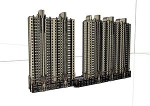 商业住宅高层建筑设计楼SU(草图大师)模型