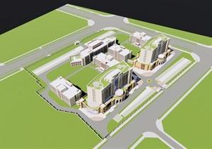 新疆伊斯蘭風格醫院概念方案