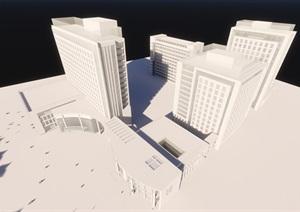 某市現代風格醫院方案推敲