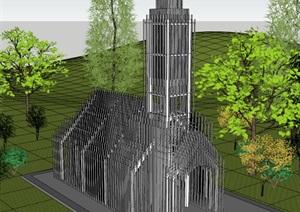某市现代风格无影教堂概念方案