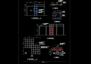 休闲花架园林节点素材设计cad施工图
