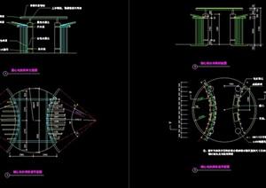 独特亭子园林节点素材设计cad施工图