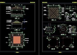 完整的中式亭子节点素材设计cad施工图