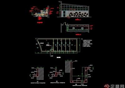 详细广场叠水cad结构详图
