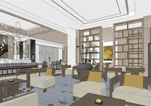 新中式/售楼中心室内设计