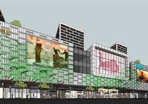 徐州绿地缤纷城商业广场建筑方案SU(草图大师)模型