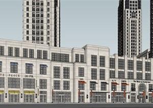 杭州万科大都会新古典风格住宅与商业项目SU(草图大师)模型