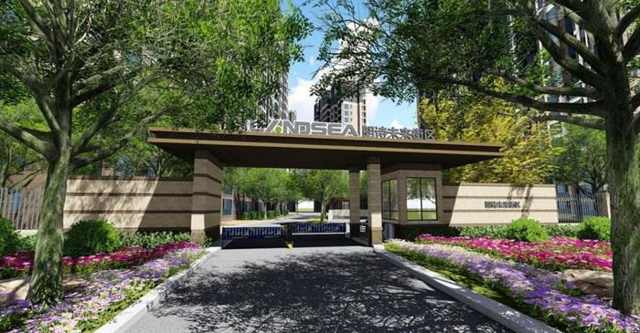 2个朗诗星火未来街区大门方案SU模型(1)