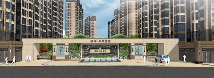 2个朗诗星火未来街区大门方案SU模型(2)