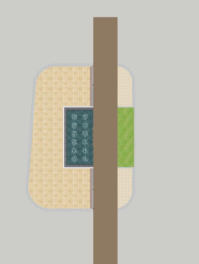 2个朗诗星火未来街区大门方案SU模型(11)