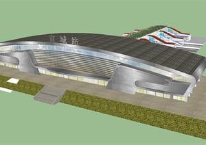 宣城东火车站建筑设计方案SU(草图大师)模型