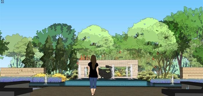 招商宁波售楼中心景观设计方案SU模型(16)