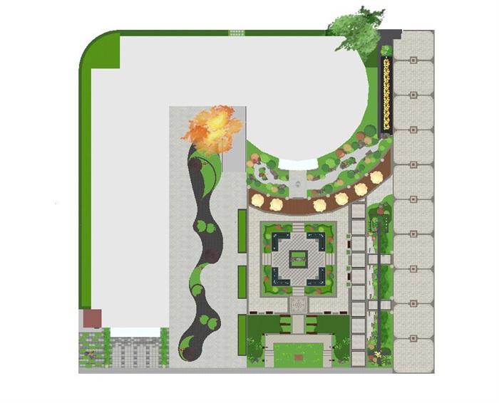 新中式山河一品售楼处景观设计方案SU模型(9)