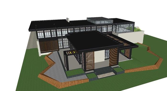 现代风格厦门建发销售展示中心SU模型(3)