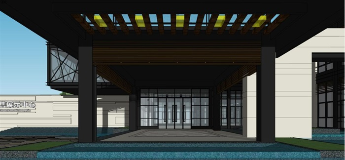 现代风格厦门建发销售展示中心SU模型(4)