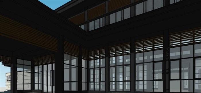 现代风格厦门建发销售展示中心SU模型(5)