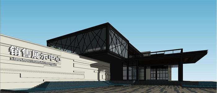 现代风格厦门建发销售展示中心SU模型(6)