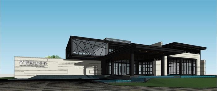 现代风格厦门建发销售展示中心SU模型(7)
