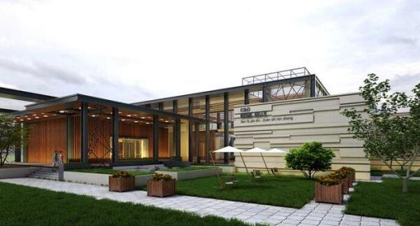 现代风格厦门建发销售展示中心SU模型(14)