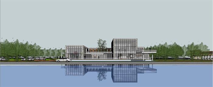尚湖翡翠湾售楼处SU模型(11)