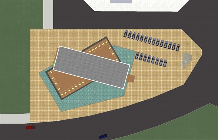现代风格售楼部建筑方案SU模型(4)