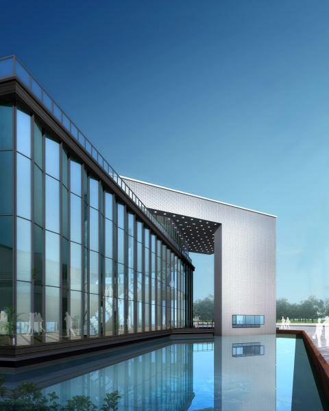 现代风格售楼部建筑方案SU模型(9)