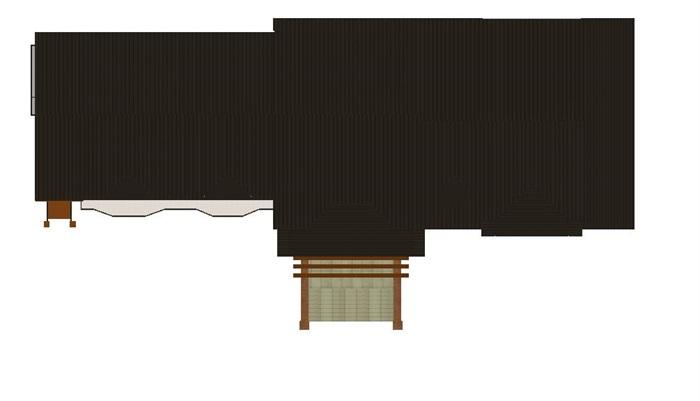 英式双坡顶售楼中心SU模型(7)