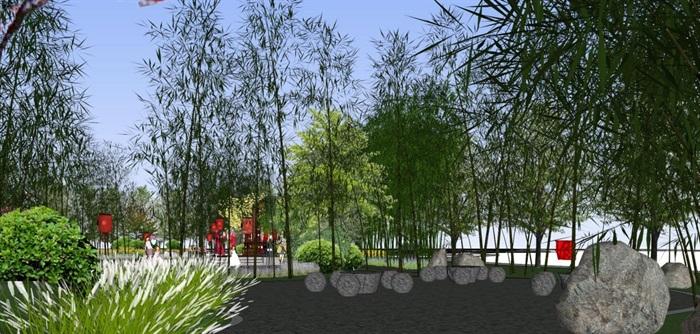 海州湾会议中心中式婚庆广场景观方案SU模型(3)