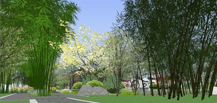 海州湾会议中心中式婚庆广场景观方案SU模型(4)