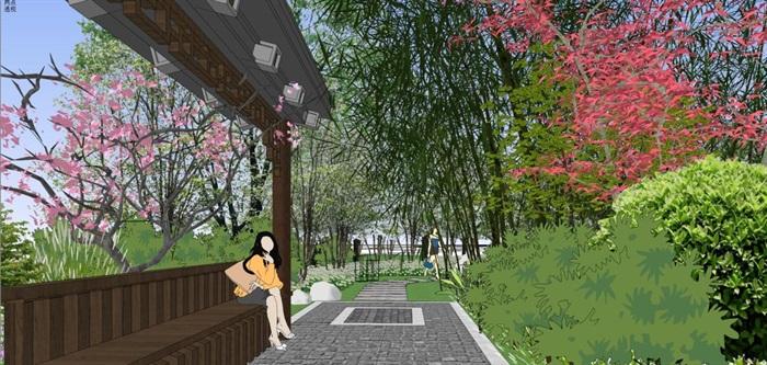 海州湾会议中心中式婚庆广场景观方案SU模型(5)