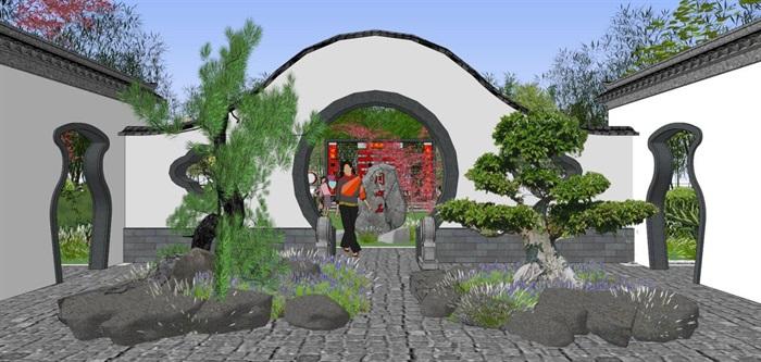 海州湾会议中心中式婚庆广场景观方案SU模型(11)