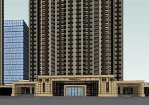 佛山禅城绿地中心住宅+办公综合体SU(草图大师)模型