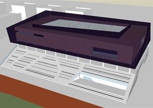 现代风格体育中心SU(草图大师)模型