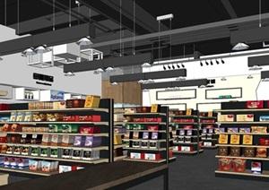 京东进口商品专卖店室内装潢方案SU(草图大师)模型