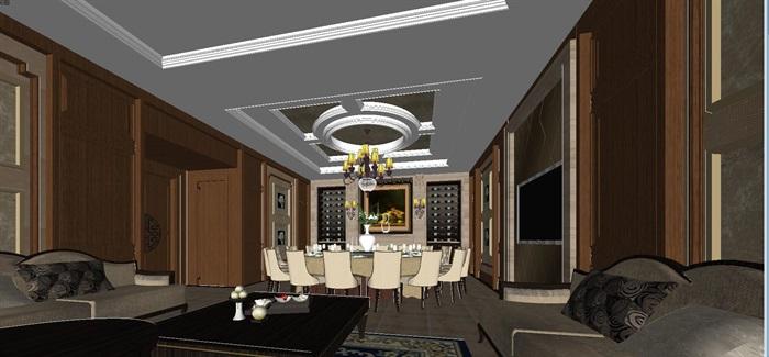 一个欧式红酒会所包房室内设计方案(1)