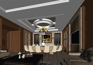 一個歐式紅酒會所包房室內設計方案