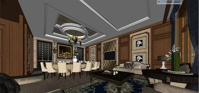 一个欧式红酒会所包房室内设计方案(3)