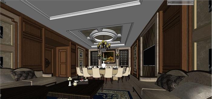 一个欧式红酒会所包房室内设计方案(4)