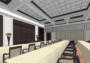現代風格會議廳裝潢方案SU(草圖大師)模型