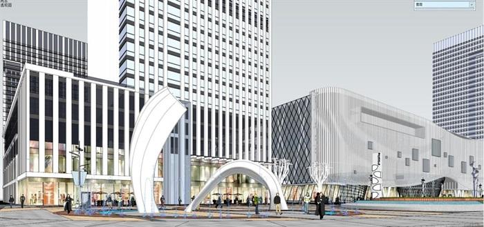 现代风格昆明红星国际广场SU模型(2)