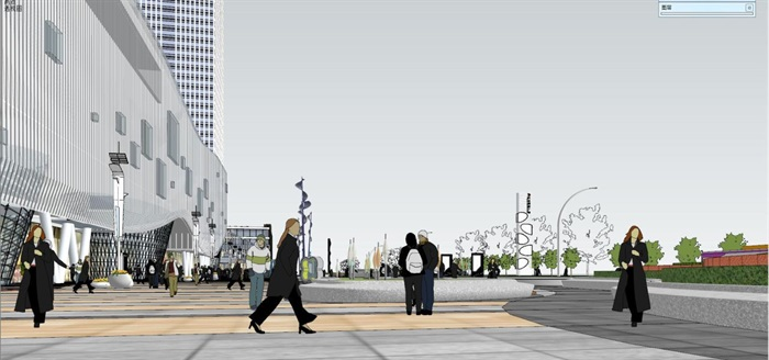现代风格昆明红星国际广场SU模型(11)