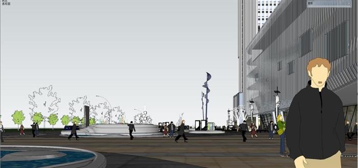 现代风格昆明红星国际广场SU模型(13)