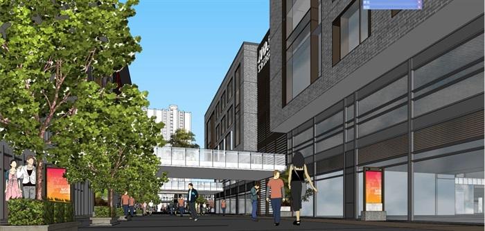 现代风格泰安新华城国际广场SU模型(附实景图)(3)