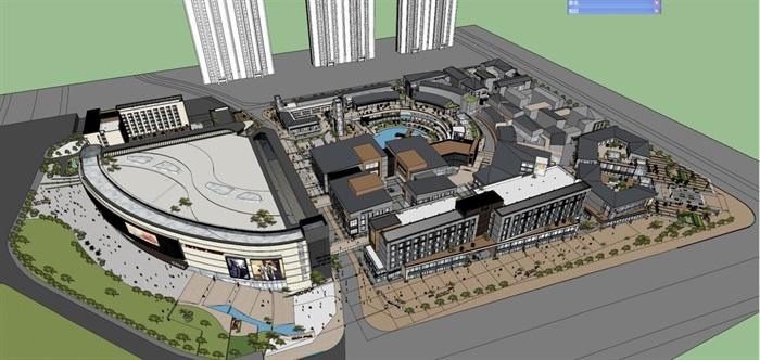 现代风格泰安新华城国际广场SU模型(附实景图)(6)
