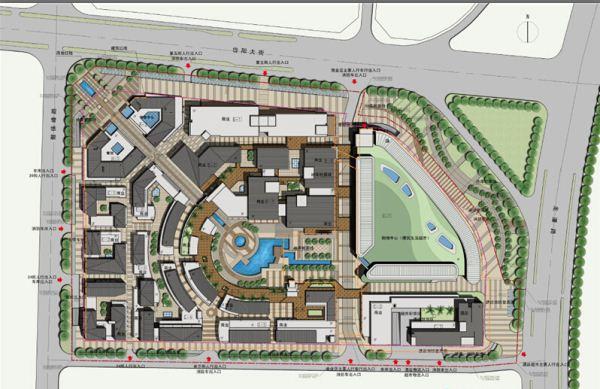 现代风格泰安新华城国际广场SU模型(附实景图)(15)