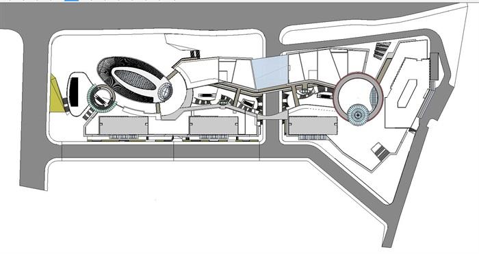 现代风格海尔时代广场SU模型(1)