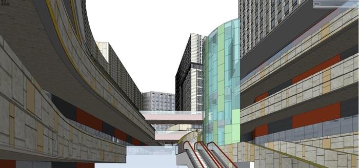 现代风格海尔时代广场SU模型(7)