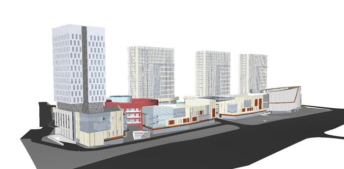 现代风格海尔时代广场SU模型(8)