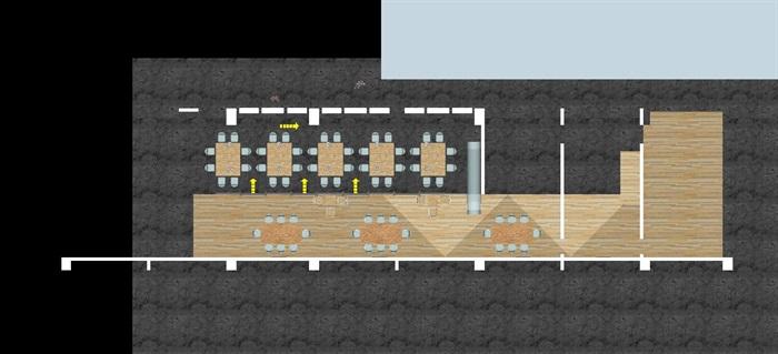 现代风格LOFT办公室装潢SU模型(6)